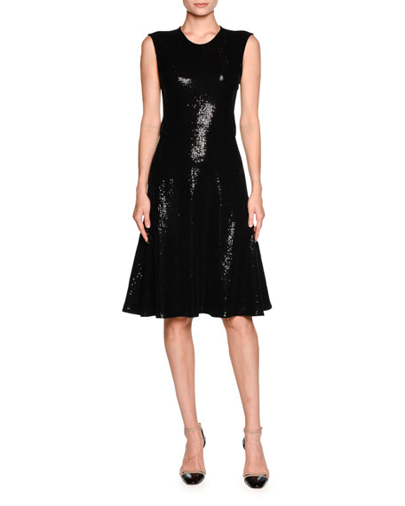 Giorgio Armani Sequined Sleeveless Cocktail Dress, Black