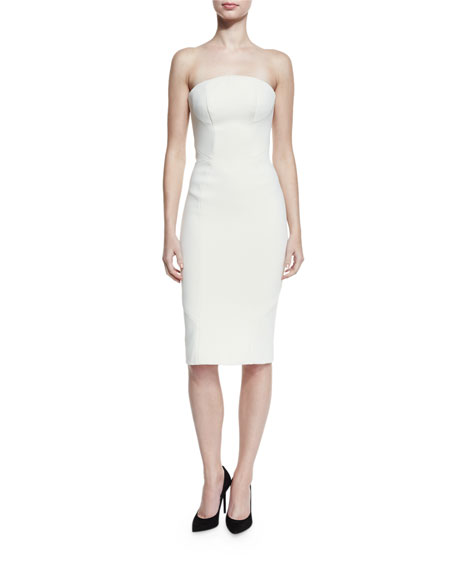Strapless Sheath Cocktail Dress, Papyrus