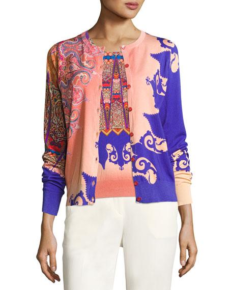 Marrakech-Print Stampa Knit Tank, Orange/Purple Online Cheap
