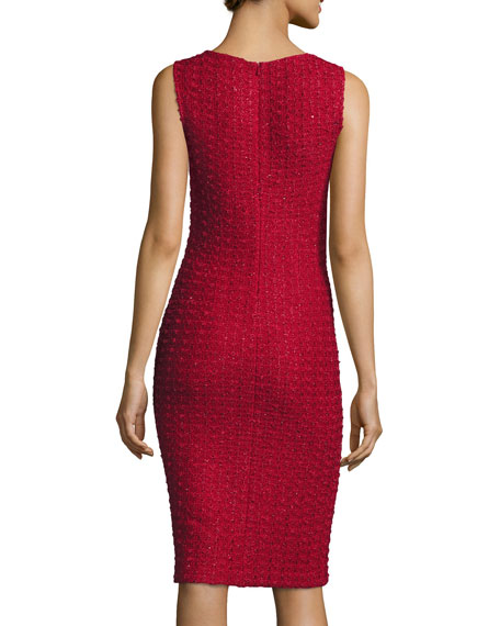 Anastasia Sequined V-Neck Dress, Ruby/Multi