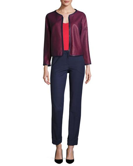 Tech-Cotton Wide-Cuff Pants, Marino Blue