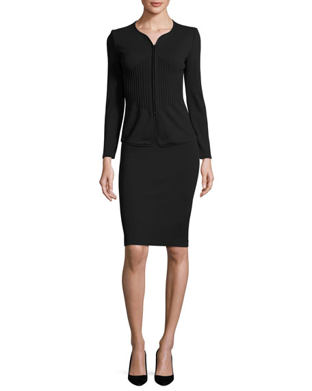 Milano Piped Zip Jacket, Black