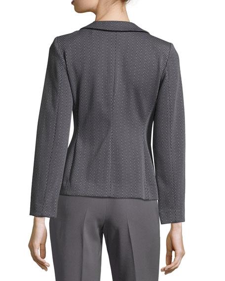 Chevron Jacquard Jacket, Gray