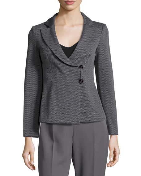 Armani Collezioni Chevron Jacquard Jacket, Gray and Matching