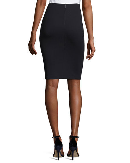 Milano Jersey Pencil Skirt, Midnight