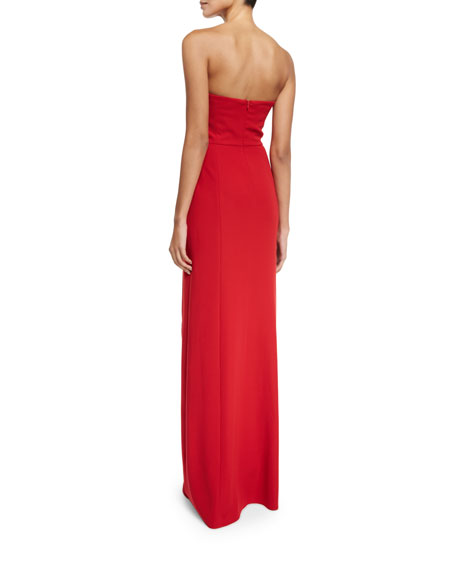 Image 2 of 2: Strapless Tech Cady Gown, Red