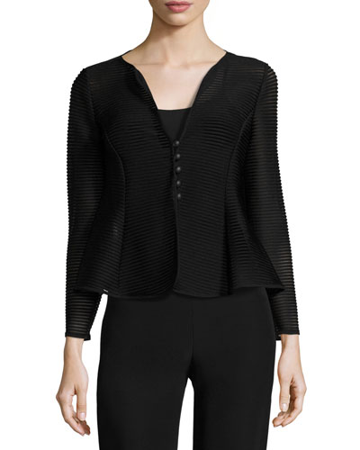 Ottoman Jersey Button Jacket, Black Sale
