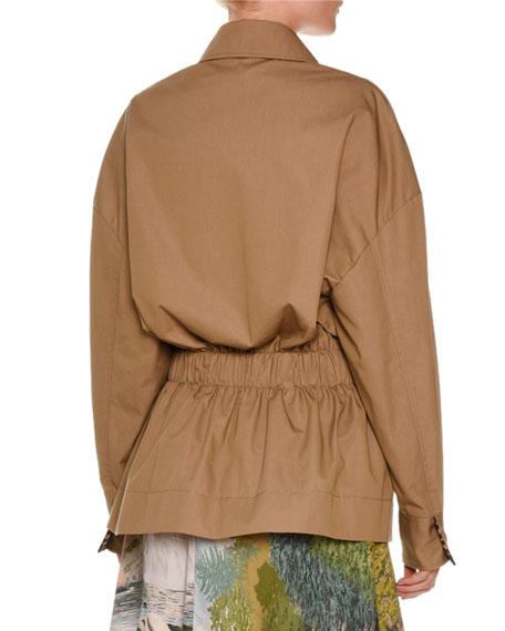 Snap-Front Anorak Jacket, Khaki Reviews