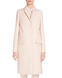 Single-Breasted Military Coat, Skin