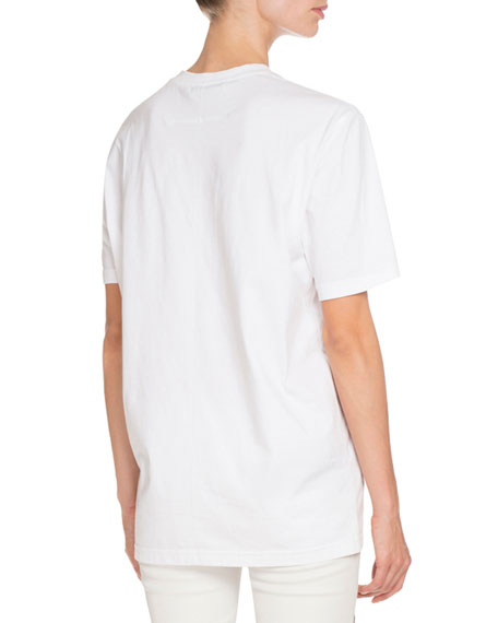 Givenchy Paris Graphic Tee, White/Red