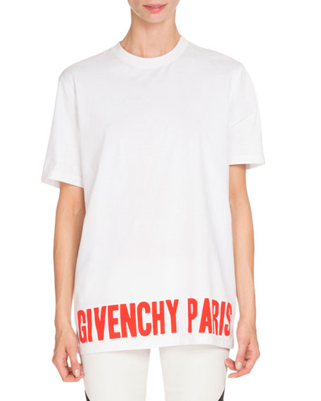givenchy givenchy paris graphic tee white red neiman marcus. Black Bedroom Furniture Sets. Home Design Ideas