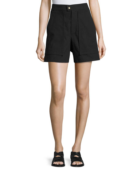 Isabel Marant Flare-Leg High-Waist Shorts, Black
