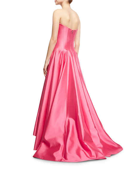 Deep V Strapless Ball Gown, Rose