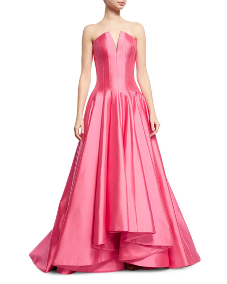 Rubin Singer Deep V Strapless Ball Gown, Rose