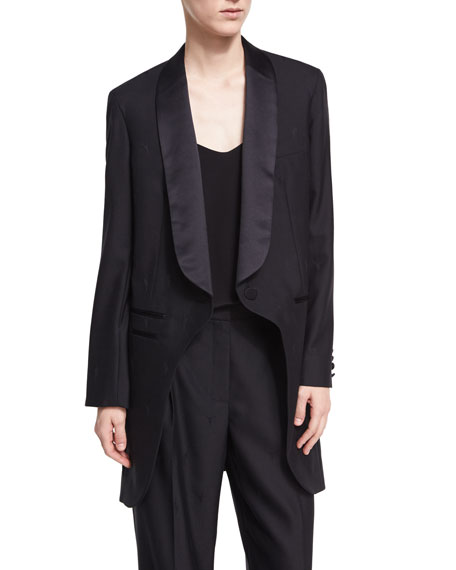 Alexander Wang Elongated Shawl-Collar Blazer Jacket