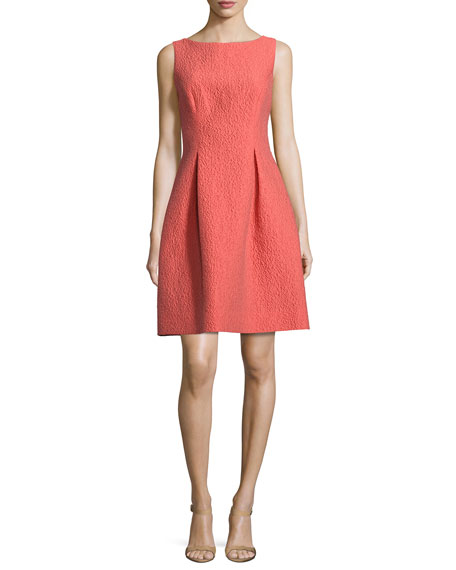 Betsy Sleeveless A-Line Dress, Coral
