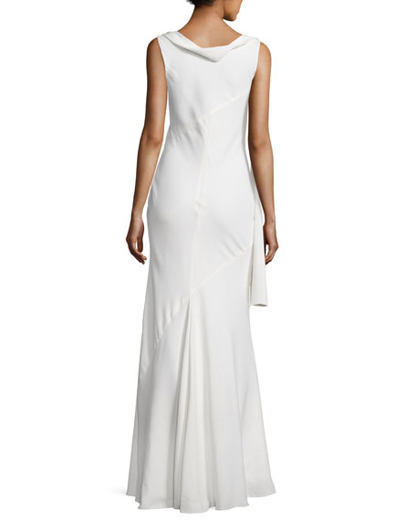 Narciso Rodriguez Draped Cowl Neck Sleeveless Gown Off