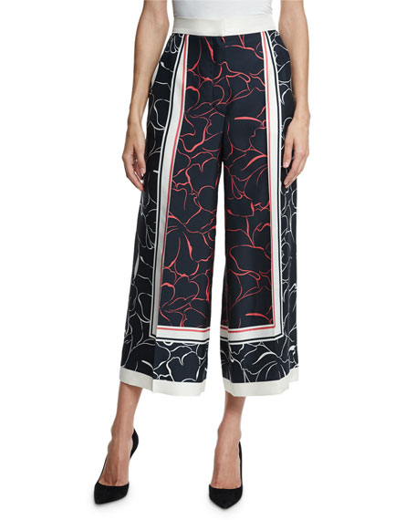 Toulne Printed Silk Culottes