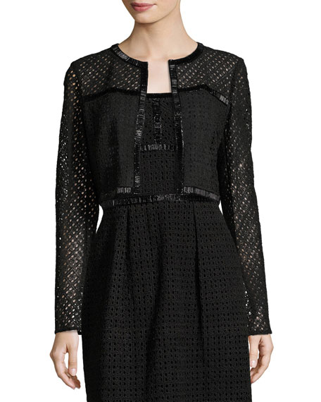 Escada Eve Silk Lace Bolero, Black and Matching
