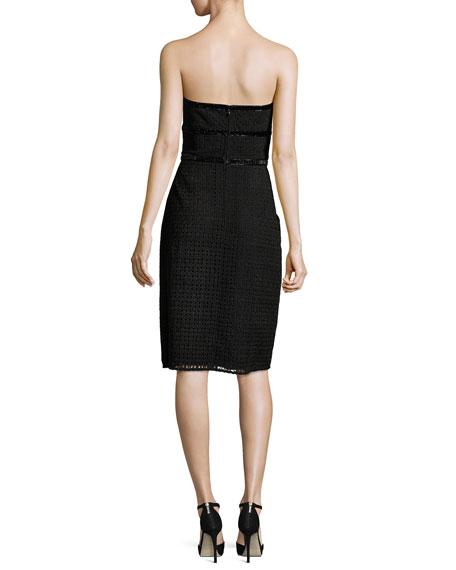 Eve Strapless Lace Cocktail Dress, Black