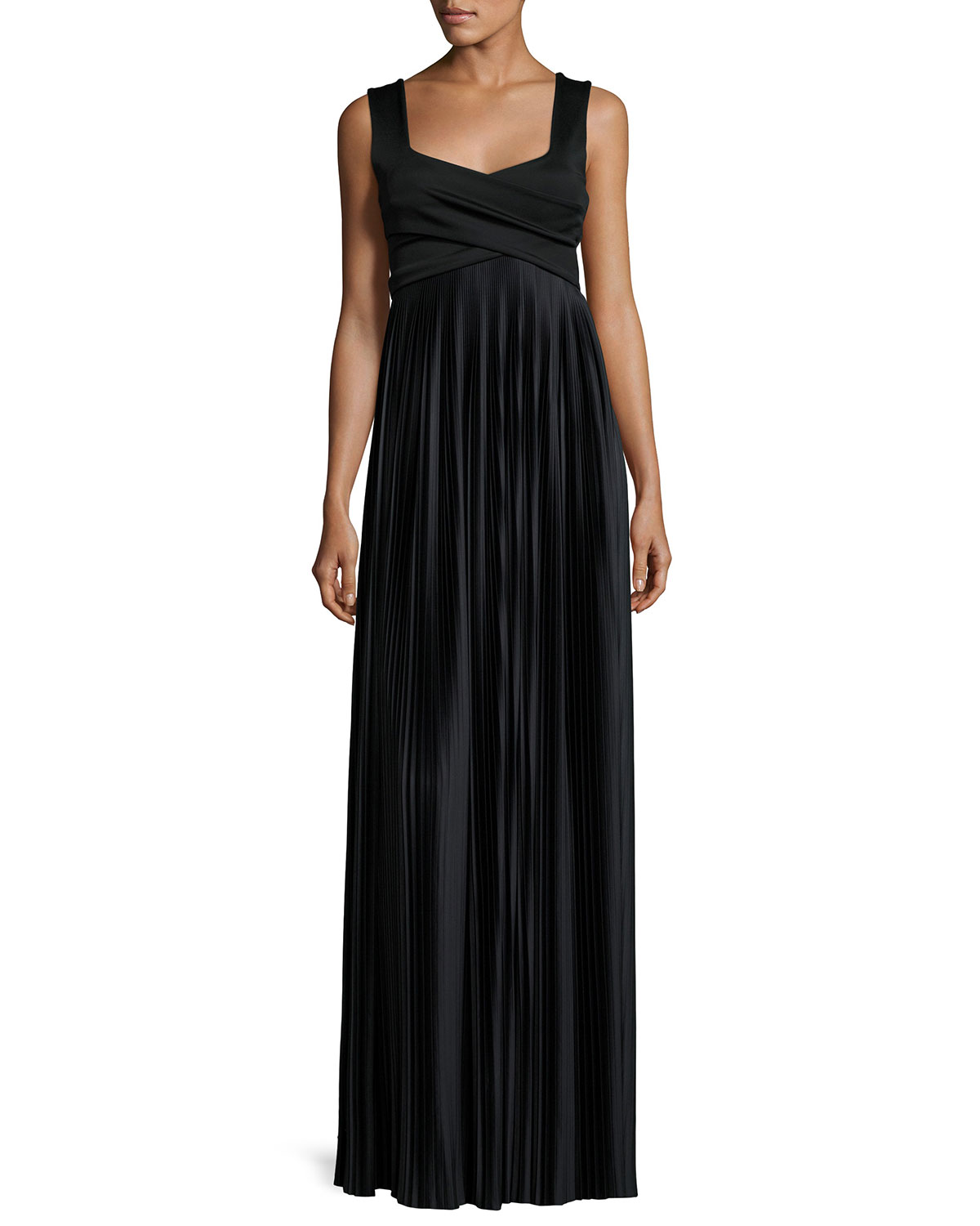 Jvw Home Free Interior Design Free Pillows: THE ROW Alain Pleated Sleeveless Gown, Black
