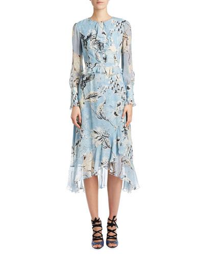 Blue v white dress neiman