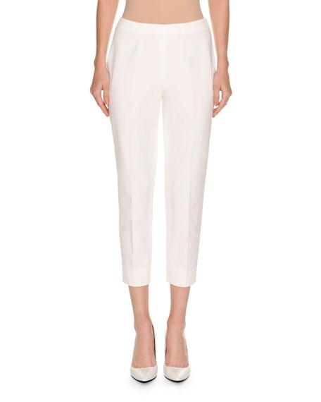 Piazza Sempione Audrey Slim-Leg Cropped Pants, White