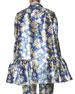 Floral Jacquard Peplum Jacket, Blue