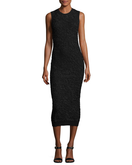 Michael Kors Collection Soutache Embroidered Crewneck Sheath