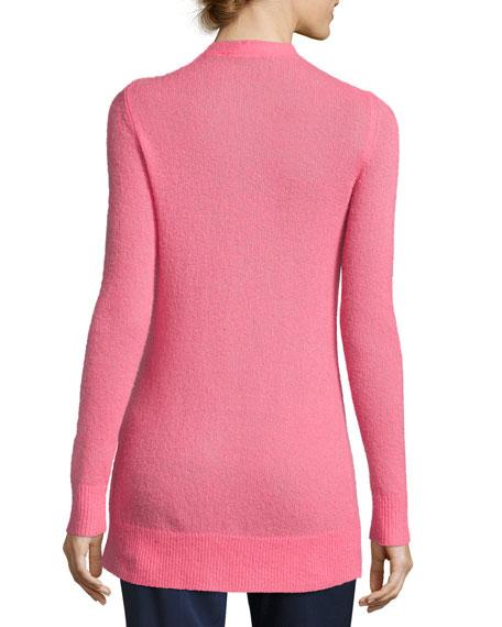 Cashmere-Blend V-Neck Cardigan, Pink