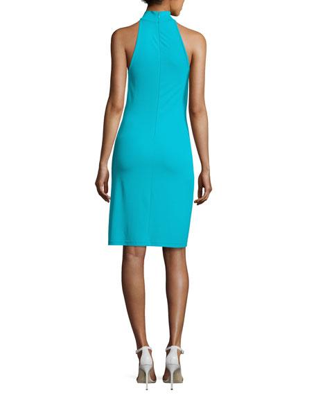 Sleeveless Halter Sheath Dress