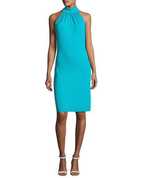 Michael Kors Collection Sleeveless Halter Sheath Dress