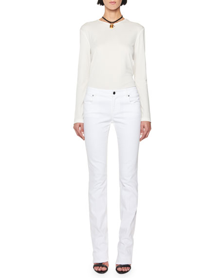 Mid-Rise Straight-Leg Jeans