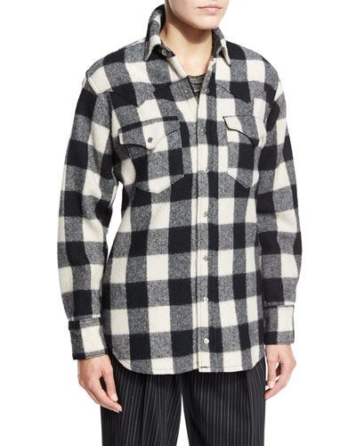Ralph lauren clothing dresses at neiman marcus for Buffalo check flannel shirt jacket