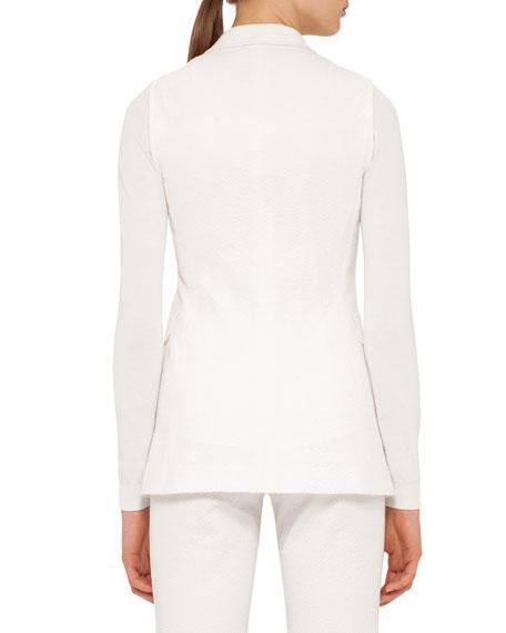 Seersucker Double-Breasted Vest, Cream