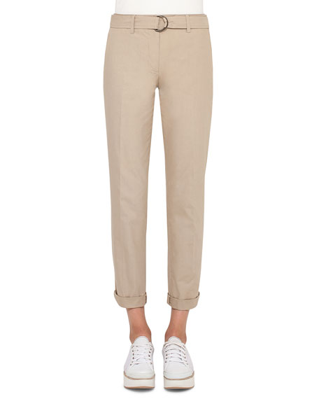Fallon Belted Chino Pants, Sand