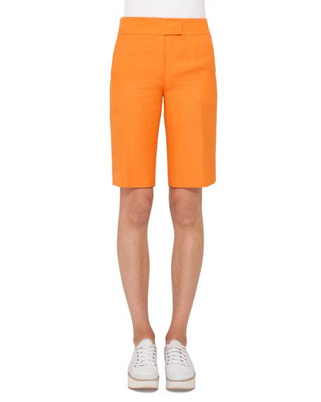 Akris punto Straight-Leg Bermuda Shorts, Marigold