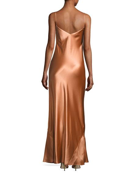 Alcazar Satin Crepe Gown, Orange