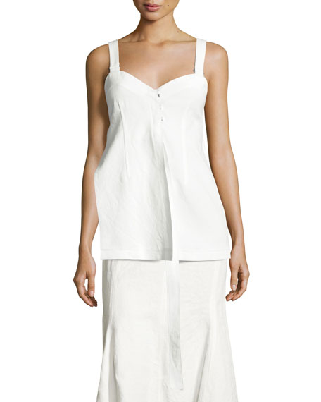 Calvin Klein Collection Hook-Front Camisole Top, White