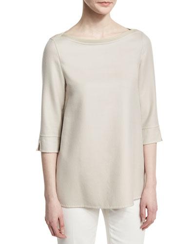 Extralight Cashmere-Silk Sweater