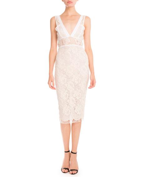 Victoria Beckham Lace Sleeveless Sheath Dress