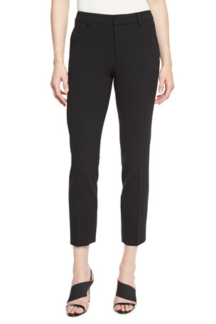 Ralph Lauren Collection Heidi Straight-Leg Ankle Pants, Black