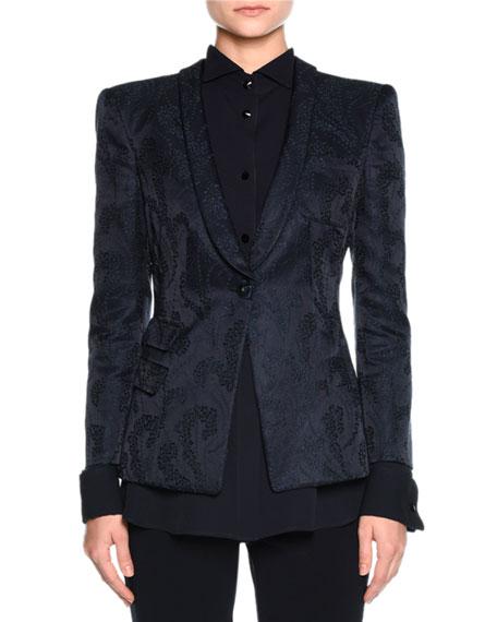 Giorgio Armani Jacquard Evening Blazer, Navy