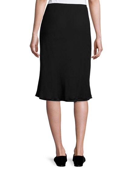 Kiori Silk A-Line Skirt