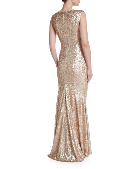 Sleeveless Iridescent Mermaid Gown
