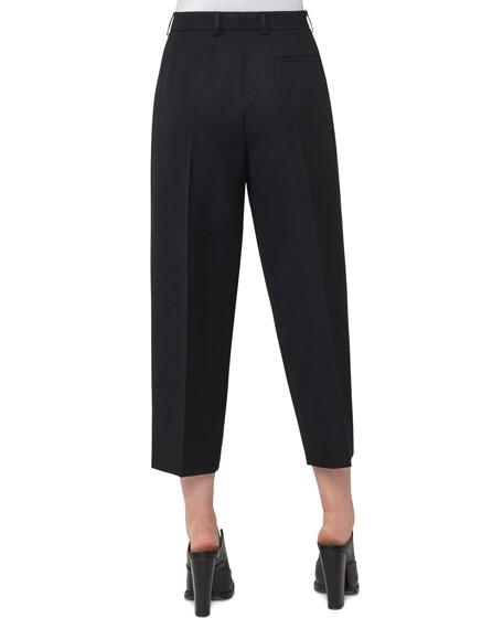 Flori Slouchy Cropped Pants, Black