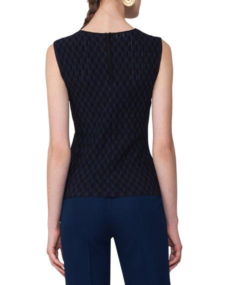 Sleeveles Punto Knit Top, Multi