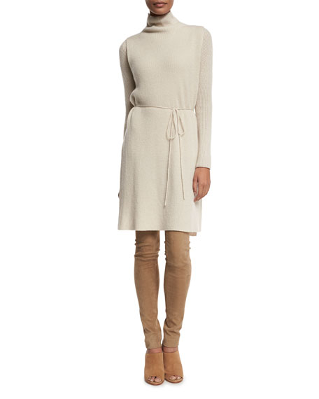 Petrea Ribbed Cashmere Turtleneck Tunic