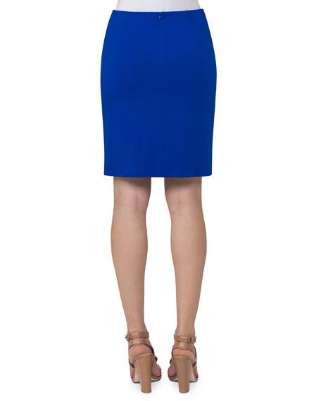 Slim Jersey Miniskirt, Cobalt