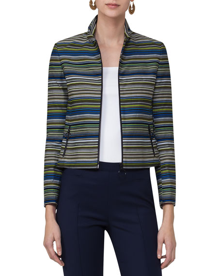 Paracas-Print Cropped Jacket, Multi